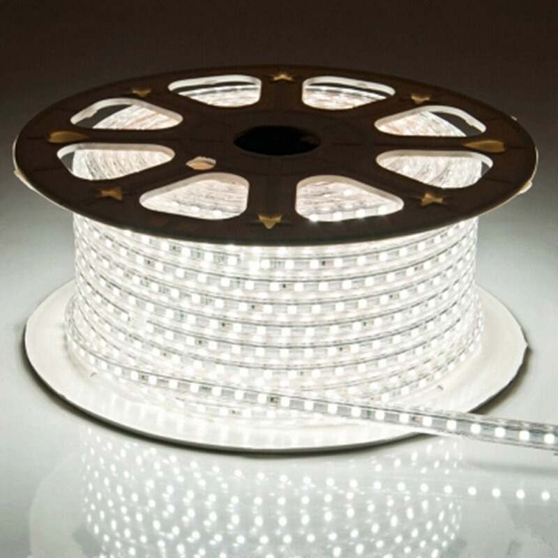 LAIMAIK LED Strip Light 5050 Vandtæt IP67 AC 220V LED Light Strip 60leds / m 5050SMD LED Strip Light Med Power Plug LED Lights