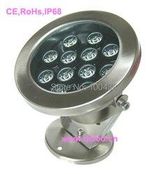 Dobrej jakości o dużej mocy 12 W LED basen światła  LED podwodne światło  ze stali nierdzewnej  12X1 W  12 V DC IP68  DS 10 12 12W  dobrej jakości w Reflektory LED od Lampy i oświetlenie na