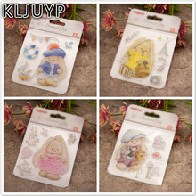 KLJUYP font b Baby b font Bear Transparent Clear Silicone Stamp Seal for DIY scrapbooking photo