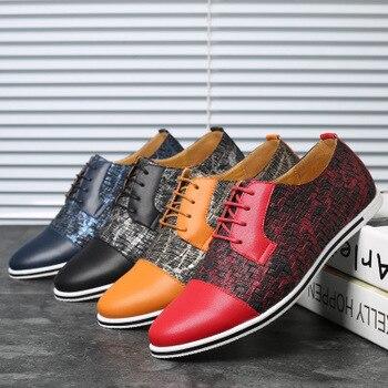 Для мужчин; модная обувь для отдыха тенденция шить цвета мужской обуви N01