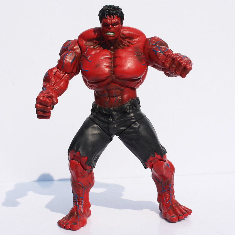 1Pcs Super Heroes Figures The Red Hulk PVC Action Figure Super Hero Toy Dolls Joint Moveable 25cm Great Gift