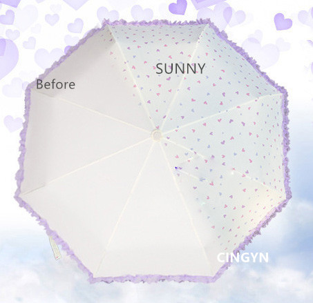 Sunny bloom lace umbrella aluminum alloy light parasol protection - Household Merchandises