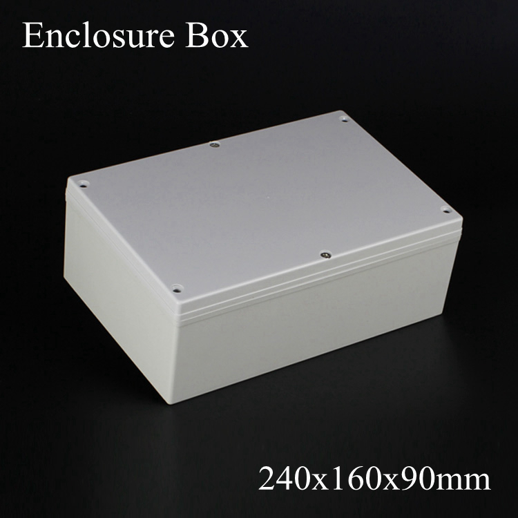 (1 piece/lot) 240*160*90mm Grey ABS Plastic IP65 Waterproof Enclosure PVC Junction Box Electronic Project Instrument Case цена