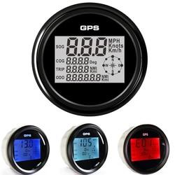 85mm Car Boat GPS Speedometer Meter Digital Display 0~999 MPH Knots Km/h adjustable Speedometer Gauge with 8 Color Backlight