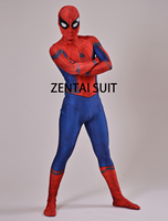 Civil War Spiderman Costume 3D Shade Spandex Fullbody Halloween Cosplay Spider Man Superhero Costume For Adult