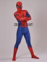Civil War Spiderman Costume 3D Shade Spandex Fullbody Halloween Cosplay Spider Man Superhero Costume For Adult