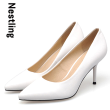 New 2016 Spring Fashion High Quality Party Shoes Sexy Thin heel Pointed Toe Women Pumps High Heels Party Shoes D50
