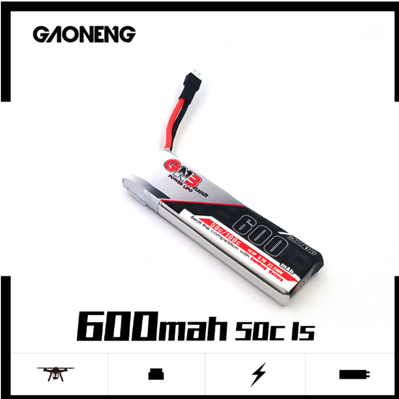 4PCS Gaoneng GNB 600MAH 1S 3.7V 50C/100C HV Lipo battery PH2.0 Plug for iFlight CineBee Betafpv Cine Whoop Beta FPV Drone image