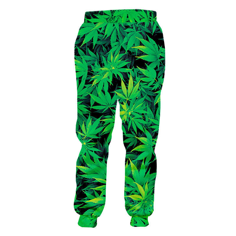 Fashion Weeds Pants Unisex 3D Smoking Leaf Print Casual Loose Trousers Streetwear Hip Hop Active Sports Joggers Sweatpants S-4XL 15