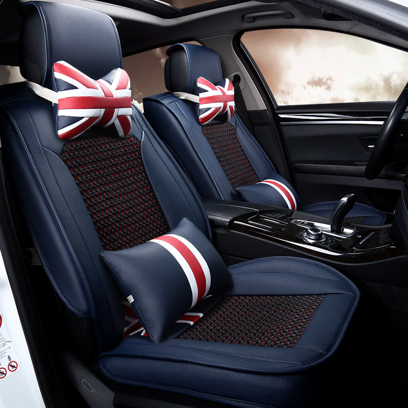 Great Britain National Flag Ice Silk 4 Seasons Car Seat Cushion Mat Cover For Landrover Volkswagen Vw Bmw Audi Benz Baby520 artificial leather 4 seasons car seat cushion mat cover for alfa romeo acura benz jaguar kia volvo honda toyota baby520