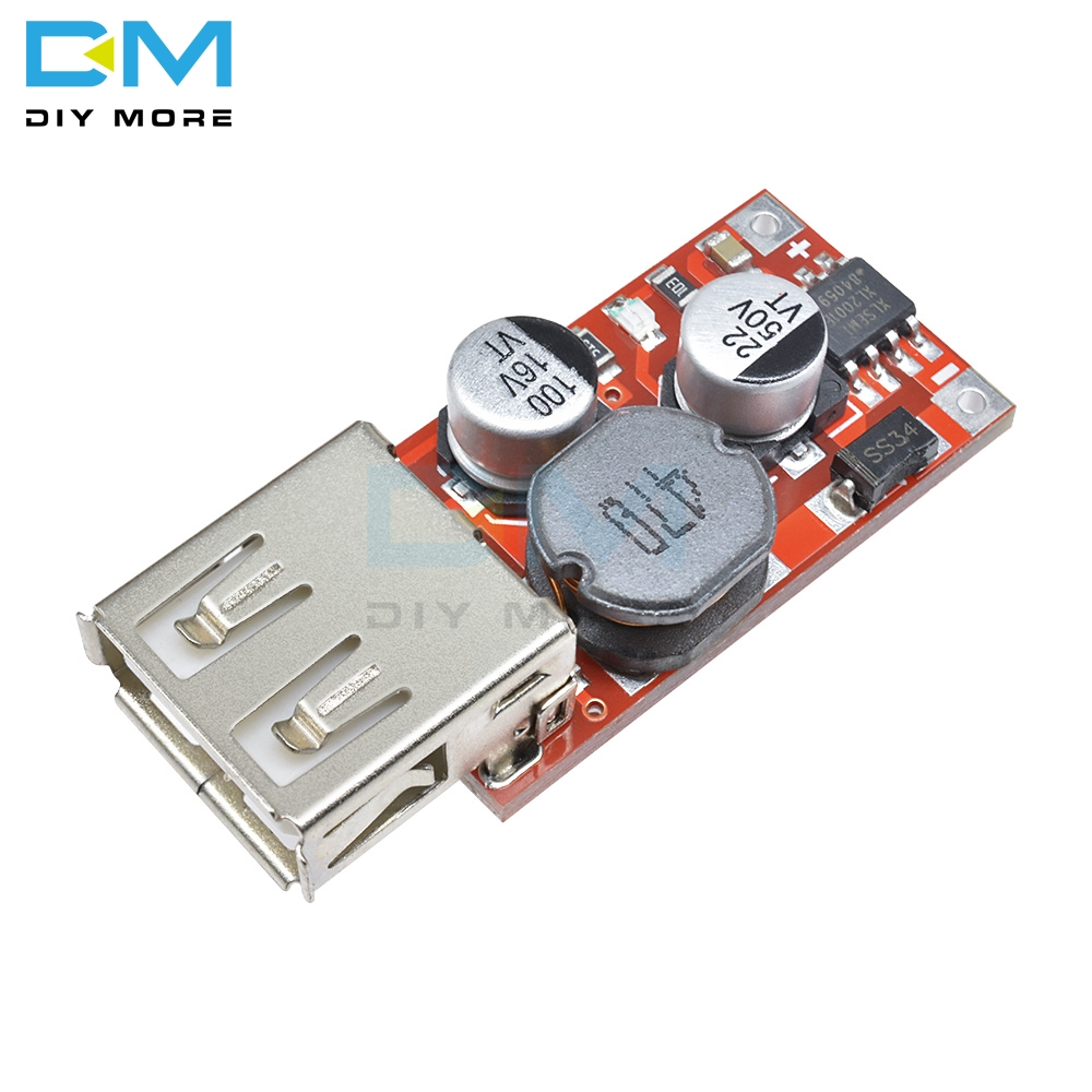 DC-DC Buck Step Down Power Converter Module DC12V to DC5V 3A DIY Car USB Charger