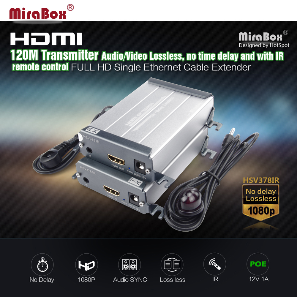 HSV378-IR  HDMI TX/RX IR Extender 60m/200ft HDMI Extender over Cat5/5e/6 UTP 1080P HDMI IR Transmitter and Receiver by RJ45 lkv379 rx hdmi extender over coaxial cable receiver for lkv379 lenkeng us eu uk au