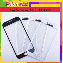 10Pcs/lot For Samsung Galaxy A7 2017 A720 A720F SM-A720F Touch Screen Front Glass Panel TouchScreen Outer Glass Lens NO LCD bassett jennifer the president s murderer