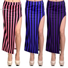 New 2014 Fashion Women's Sexy High Waist Open Side Split Slim Maxi Skirts Ladies Full Length Long Skirt Plus Size 12