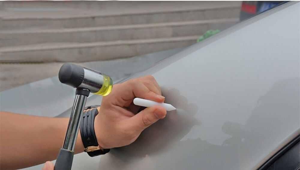 Multifonctionnel Mini double face en caoutchouc marteau voiture Dent réparation ménage maillet en cuir outil PDR plastique pour voiture/bijoux marteau