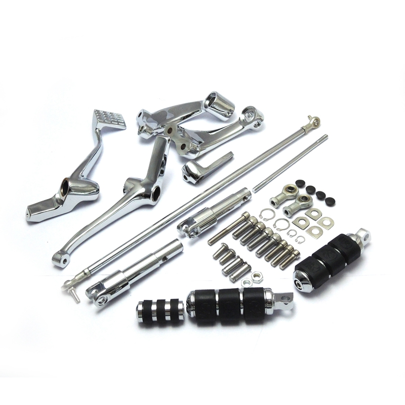 For Harley Sportster Forward Controls Kit 883 1200 Forty-Eight Custom 2004-2013 Full Set Chrome Foot rests Motorcycle Levers