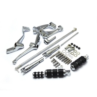 For Sportster Forward Controls Kit 883 1200 Forty Eight Custom 2004 2013 Full Set Chrome Foot rests Motorcycle Levers