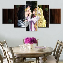 Mavis And Zeref 5 Pieces Paintings Canvas Wall Art Fairy Tail Anime Home Decor Living Room