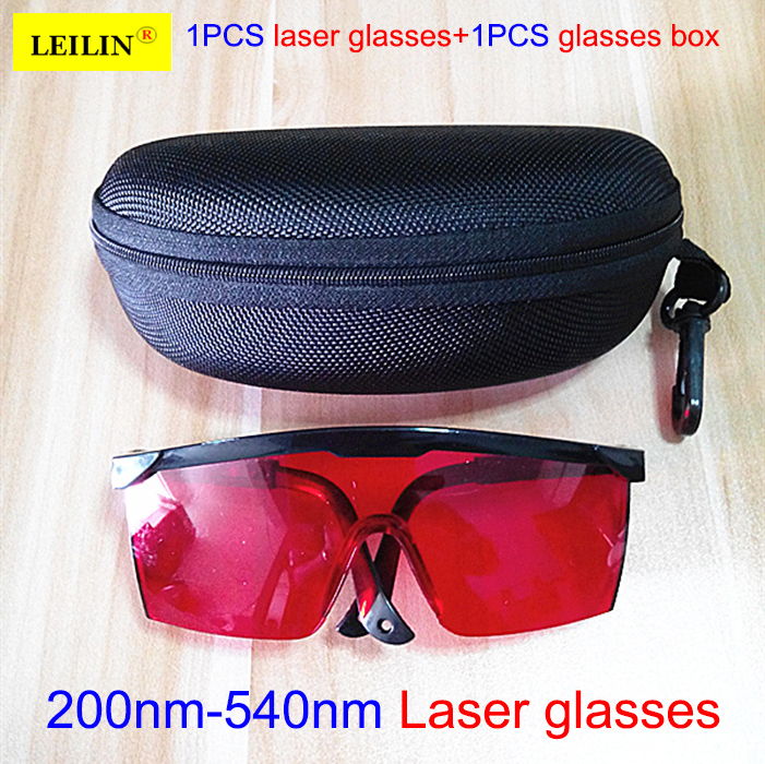 high quality laser safety glasses Goggles + glasses case eye protection 200nm-540nm Anti-shock laser protective glasses laser safety glasses 190 540nm