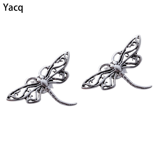 Yacq 925 Sterling Silver Dragonfly Stud Earrings Biker Birthday Jewelry Gifts For Women S Her Friend