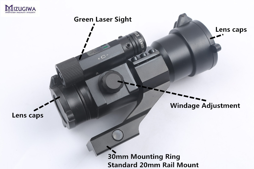 Tactical 1X30 Green Red Dot Optical Sight Laser Reflex Holographic Scope With Green Sight Hunting Riflescope Gun Airgun caza