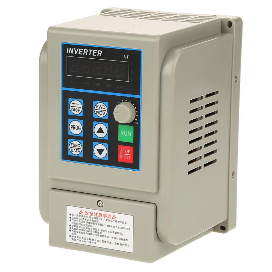 AC 220V Single-phase Variable Frequency Inverter Drive VFD Speed Controller for 3-phase 2.2kW AC Motor baileigh wl 1840vs heavy duty variable speed wood turning lathe single phase 220v 0 to 3200 rpm inverter driven