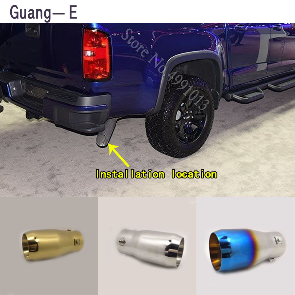 Für Chevrolet Colorado 2013-2018 auto aufkleber schalldämpfer außen zurück ende rohr widmen auspuff tip tail outlet ornament 1 stücke
