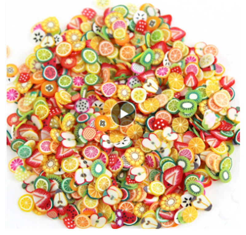 YOOAP Fruit Slices Charms Slide Addition for Slime Supplies fimo Slimes Polymer Clear Accessories Putty Clay Decoration