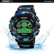 Mode Herren Digital LED Analog Quarz Alarm Datum Sport Armbanduhr 2018 Uhren Uhr Mit Sim(China)