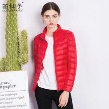 Light feather Coats Long Sleeve Outerwear Colors womens down jackets manufacturers Winter Zipper Warm Slim 90% White Duck Parkas Femme