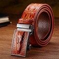 Himunu Luxury Designer Belts Men High Quality Business Belt Automatic Buckle Leather  Three Dimensional crocodile Belt for Men