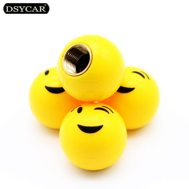 DSYCAR 4pcs/lot Universal Bike Motorcycle Car Tire Wheel Valve Cap Car Styling For Fiat Bmw Ford Lada Audi VW Honda Car Opel