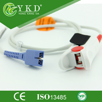 Free Shipping Nellcor DS 100A Oximax spo2 sensor cable Adult finger clip type 9 pins 1m