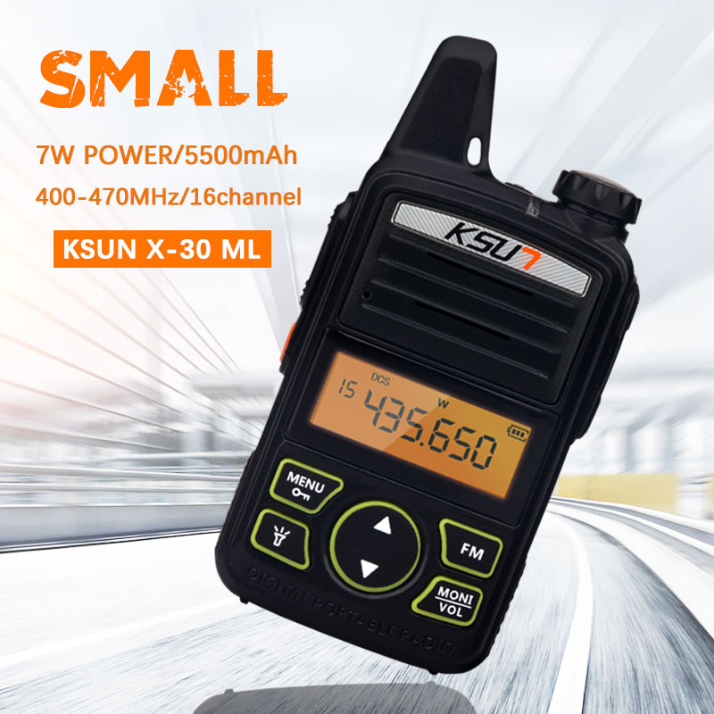 Portable Radio Set KSUN X-30TFSI Mini Walkie Talkie UHF Handheld Two Way Ham Radio Communicator HF Transceiver Amateur Handy