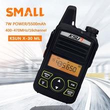 Portable Radio Set KSUN X 30TFSI Mini Walkie Talkie UHF Handheld Two Way Ham Radio Communicator