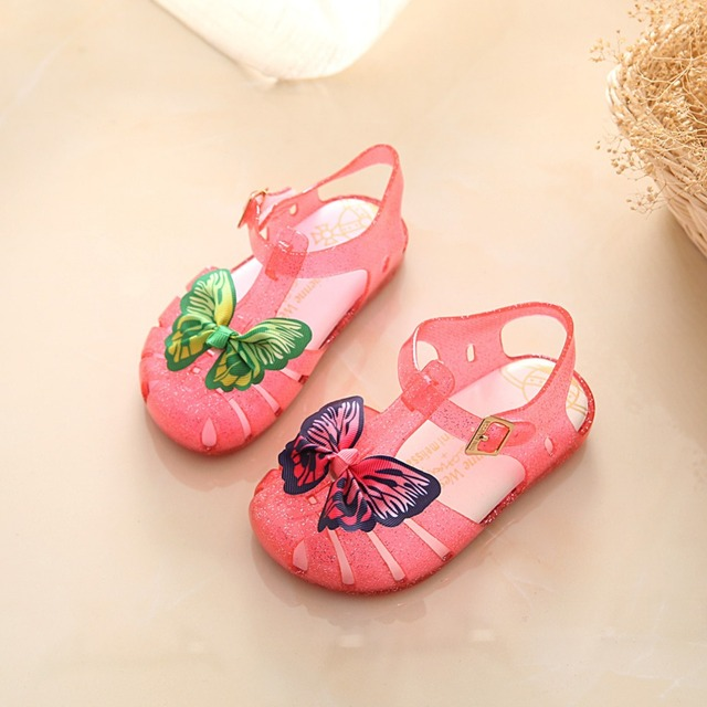 Mini melissa желе сандалии для девочки kids double бабочка мальчики cartoon обувь sandalia сандалии мелиссы infantil menina