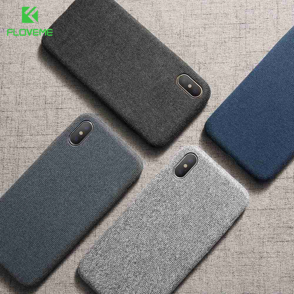FLOVEME Cloth Texture Case For IPhone 11 7 X XS Max Soft Silicone Ultra Thin Case For IPhone 11 7 8 Plus 6 6S Plus X XR XS Cover