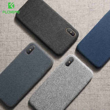 FLOVEME Cloth Texture Case For iPhone 11 7 X XS Max Soft Silicone Ultra Thin Case For iPhone 11 7 8 Plus 6 6S Plus X XR XS Cover(China)