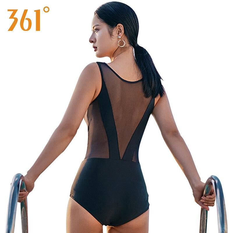 268b72c196 Women Black One Piece Swimsuit 2018 Sexy Mesh Bikini Women Sheer Swimwear