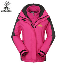 Mountainpeak 4 color waterproof outdoor clothing two-piece women wear to keep warm air autumn winter snow riding jacket(China)
