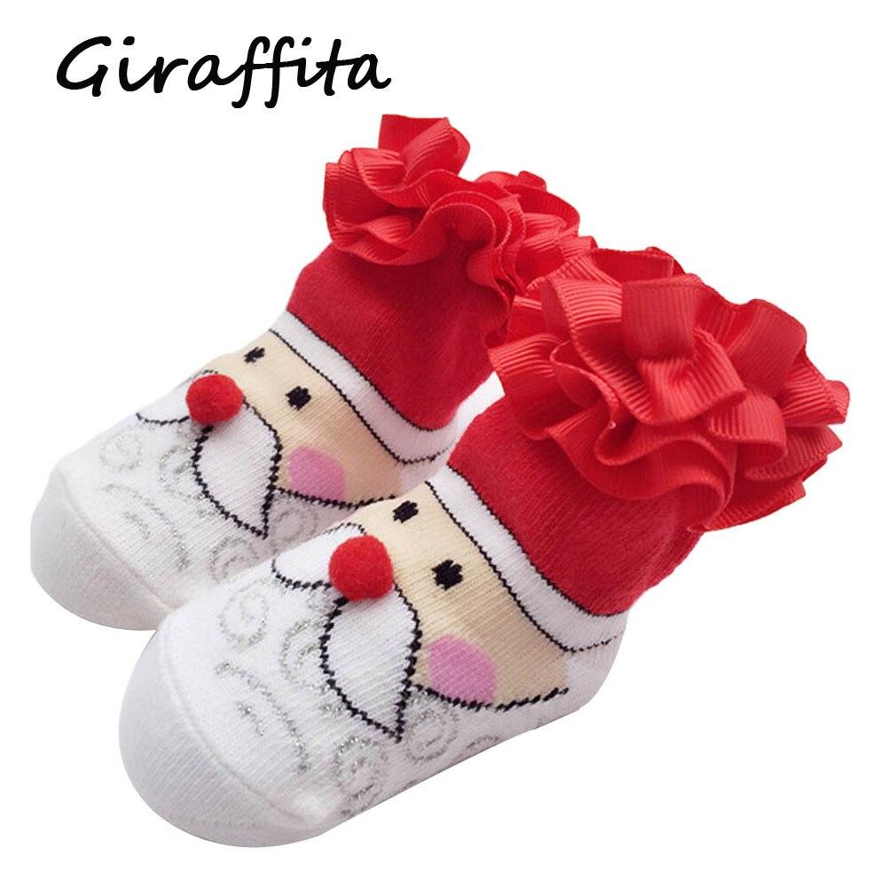 Niedliche Kleine Mädchen Socken BabeSlippers Punkten Prinzessin Rote ...