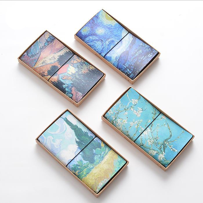 High quality Van Gogh PU Leather Cover Sketchbook Bullet journal Notebook paper Weekly Planner Accessories Stationery Diary 1707 все цены