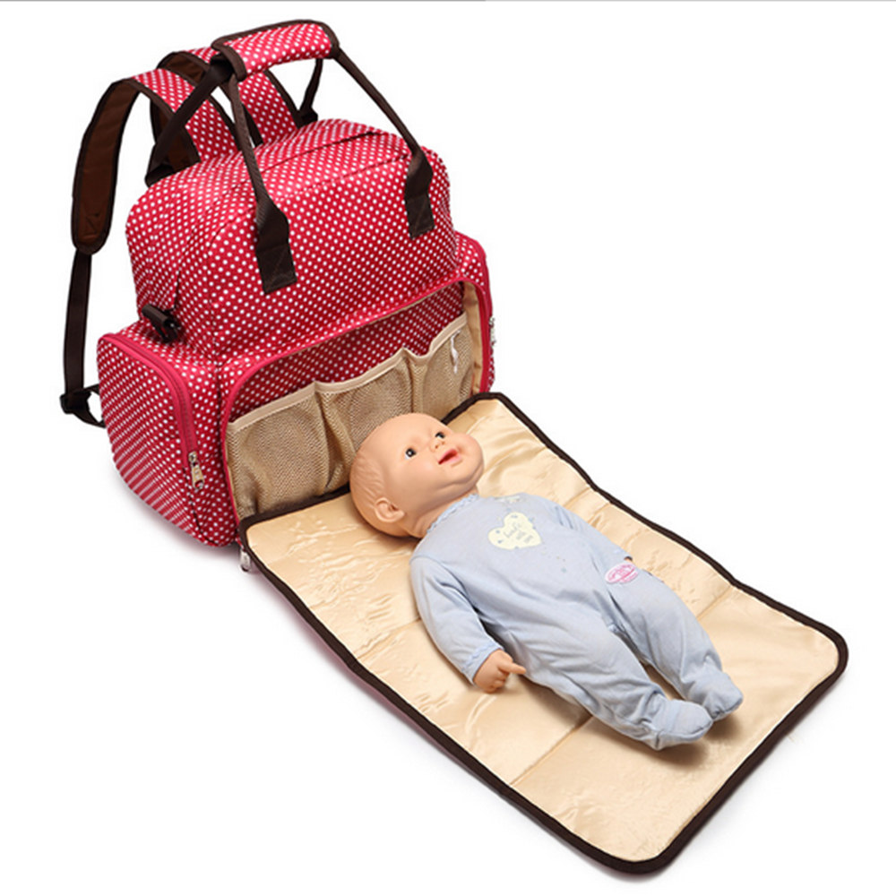 2017 new mummy bag fashion shoulder Mummy bag large capacity multi-functional package baby can lie Mummy bag diaper bags handbag