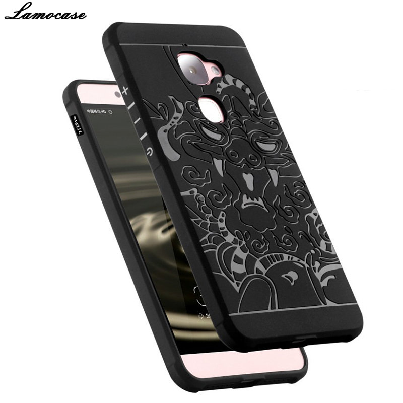 Case For Letv 2 LeEco Le2 X520 X527 Le S3 X626 Le 2 PRO X620 Relief Silicone Cover 3D Carved Dragon Pattern Anti-knock Fitted
