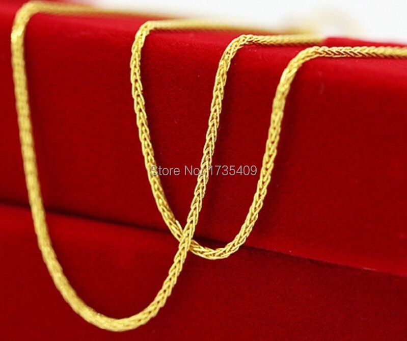 Best Solid AU750 Yellow Gold Necklace Chain Perfect Wheat Chain Necklace Chain 1.8gBest Solid AU750 Yellow Gold Necklace Chain Perfect Wheat Chain Necklace Chain 1.8g