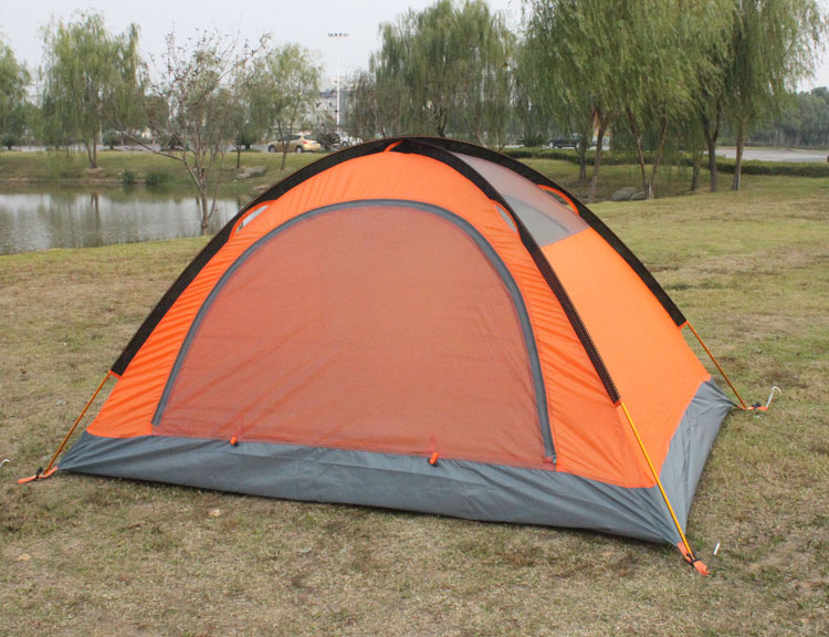 Orange Flytop Tent Closed without Fly