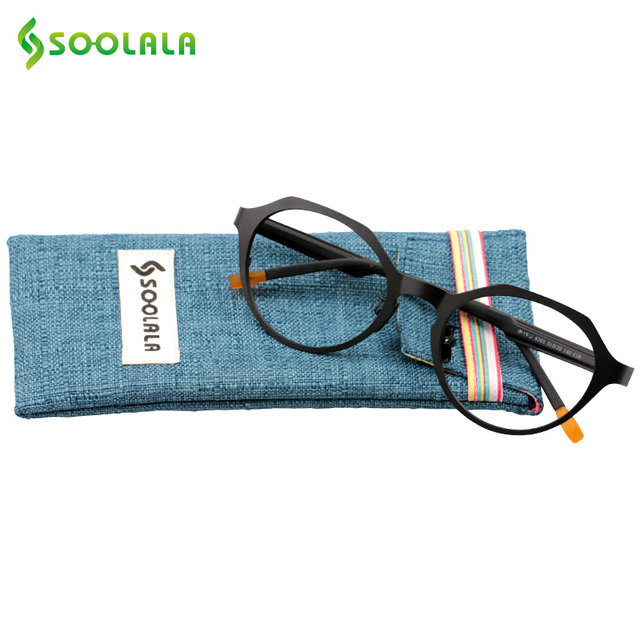 SOOLALA New Rim Round Glasses Frame Retro Hand made Eyeglasses Frame ...