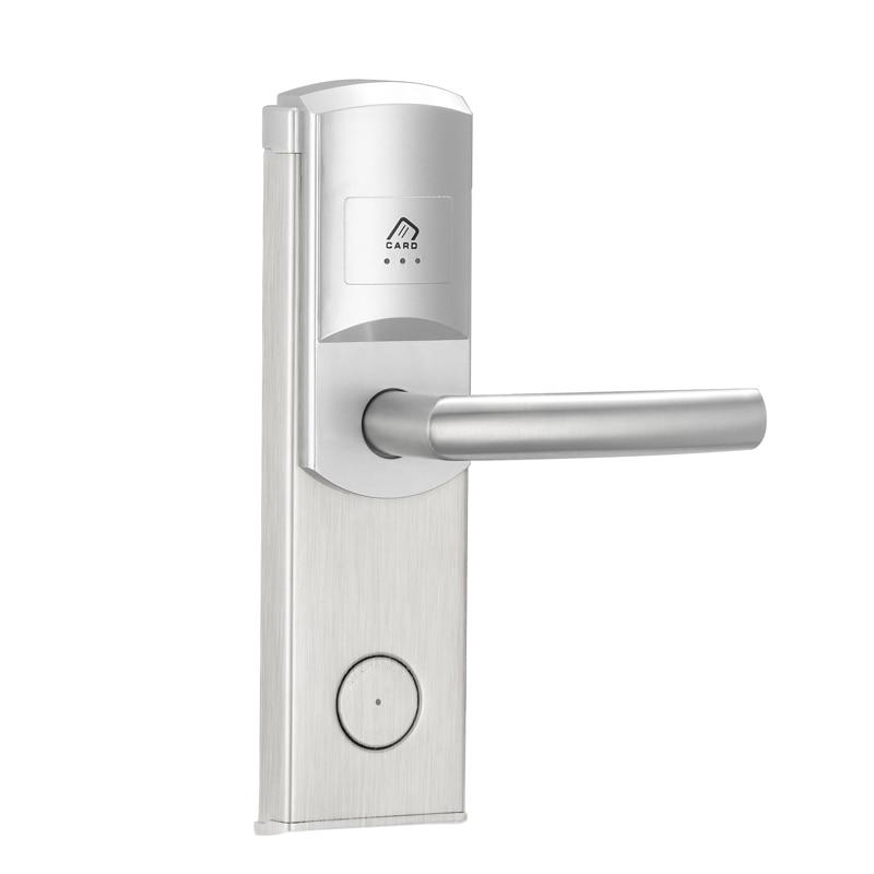 Smart hotel lock RF Key card keyless door lock with American standard lock cylinder non standard die cut plastic combo cards die cut greeting card one big card with 3 mini key tag card