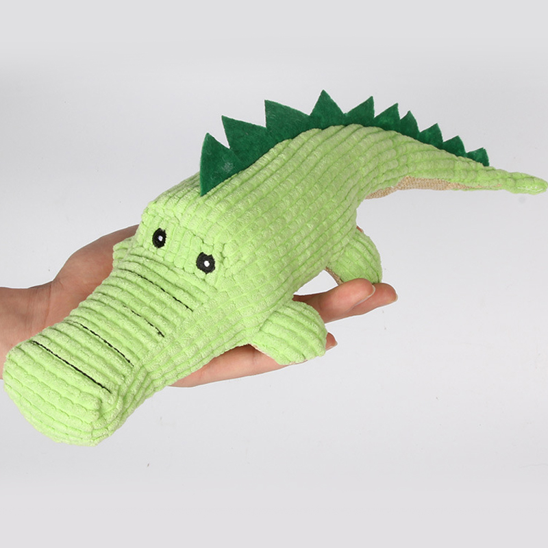 Image 3 - Crocodile Dog Toys Plush Soft Cat Chew Squeaker Pet Toy For Interactive Bite Sound Toys Chihuahua Puppy Toys-in Dog Toys from Home & Garden