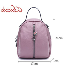 DOODOOCollege style fashion Woman backpack Mini for girl Pu Leather Backpack Travel Multifunctional 3 Colors Back Pack